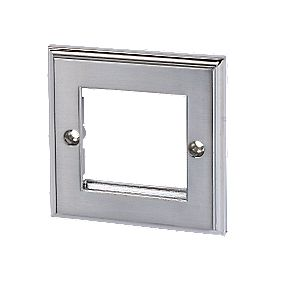 Polished Chrome Modular Plate 2-Gang