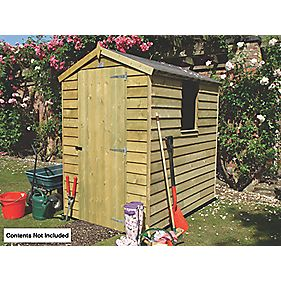 Overlap Single Door Apex Shed 6 x 4 x 7' (Nominal)