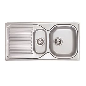 Screwfix Franke Sink : Franke Elba Sink Stainless Steel 1?-Bowl 965 x 500mm Stainless ...