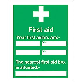 """Your First Aider"" Notice Sign 200 x 150mm"