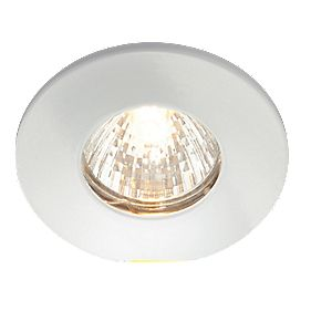 Fixed White 240V Mains Voltage Bathroom Downlight