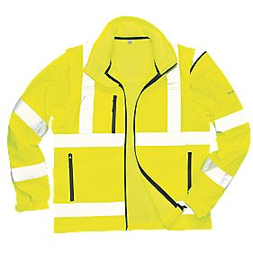 "Hi-Vis Soft Shell Jacket Yellow Medium 40-41"" Chest"