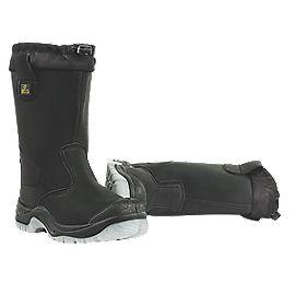 Amblers FS209 Drawstring Top Rigger Boots Black Size 11
