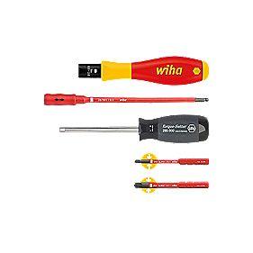 wiha vde 1000v insulated screwdriver set 5 pieces screwdrivers. Black Bedroom Furniture Sets. Home Design Ideas