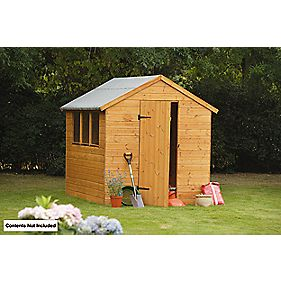 Larchlap Shiplap Single Door Apex Shed 6' x 8' x 7' (Nominal)