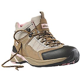 Site Ladies Safety Trainer Boots Beige Size 4