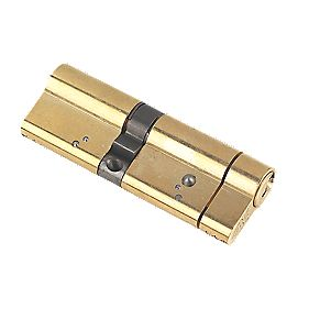 Yale AS Series Euro Double Cylinder Lock 50-40 (90mm) Polished Brass