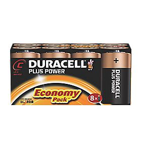 Duracell Alkaline C Batteries Pack of 8