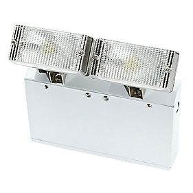 LAP Protek 3 Hour Emergency Lighting Twin Bulkhead Spotlight 2 x 3W