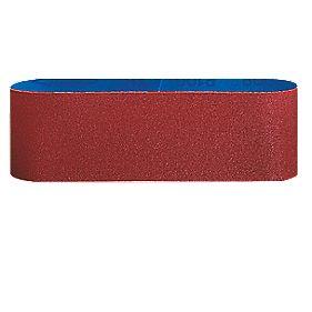 Bosch Cloth Sanding Belt 75 x 533mm 60 / 80 / 100 Grit Pack of 3