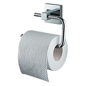 Aqualux Haceka Mezzo Toilet Roll Holder Chrome 145 x 50 x 107mm