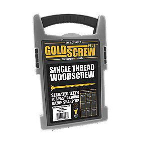 Goldscrew Plus Woodscrews Grab Pack Double Self-Countersunk Pack of 1000