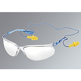 3M Tora Cord Control System Clear Lens Safety Specs