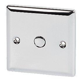 Volex 1-Gang 1-Way 500W Touch Dimmer PC Angled Edge
