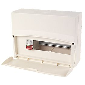 MK Sentry 12-Module 10-Way Consumer Unit with 100A DP Main Switch