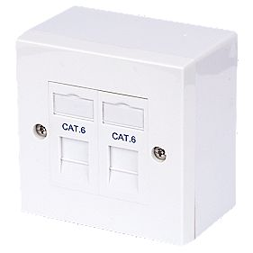 Philex Cat 6 RJ45 Twin Outlet Kit