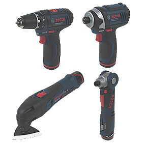Bosch 10.8V 1.3Ah Li-Ion Cordless 4-Piece Monster Kit