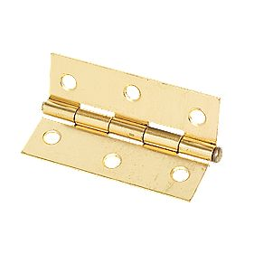 Steel Loose Pin Hinge Electro Brass 76mm Pack of 2