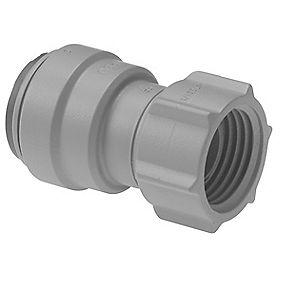 """JG PSE32023DGP Grey Female Tap Connector 15mm x ¾"""""""