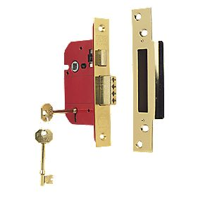 "ERA 5-Lever Mortice Sashlock Brass Effect "" / 64mm"