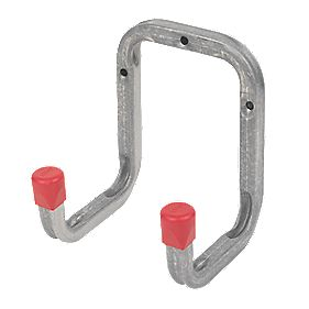 Heavy Duty Double Storage Hook Galvanised Steel 120 x 90mm