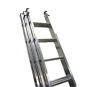 Lyte 3-Section Extension Ladder 9 Tread Max. Height 5.96m