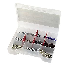 Rawlplug Outdoor Multipurpose Fixing Kit 117 Pieces