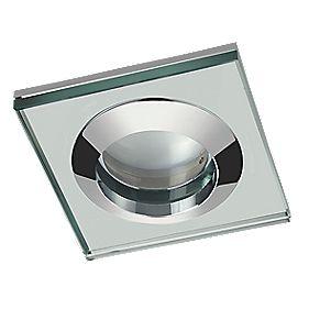 Sensio Fixed Square Glass Shower Light Chrome 240v Led Downlights