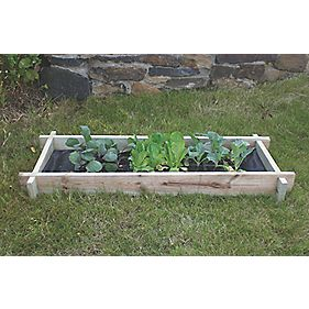 Apollo Mini Raised Bed Natural 1 x 0.4 x 0.1m