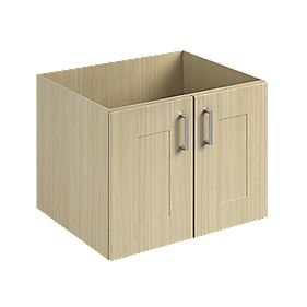 Vanity Shaker Double Base Unit Oak 600mm
