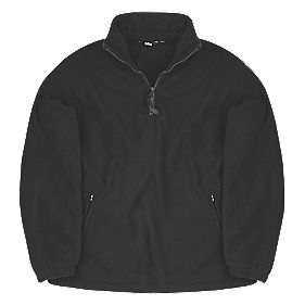 "Site Pine Half-Zip Fleece Black Medium 40-41"" Chest"