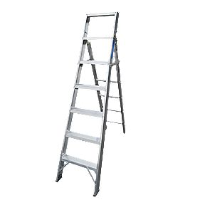 Lyte Multipurpose Ladder Aluminium Alloy 7 x 5 Treads 3.07m