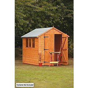 Forest Larchlap Shiplap Heavy Duty Shed 8 x 6 x 7' (Nominal)