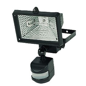EH271-A Floodlight PIR Photocell Black 220-240V 120W 2250Lm