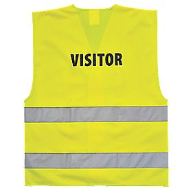"Hi-Vis Visitors Waistcoat Yellow XX Lge / XXX Lge 50-55"" Chest"