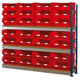 Toprax Longspan Extension Bay Red 1780 x 328 x 1500mm