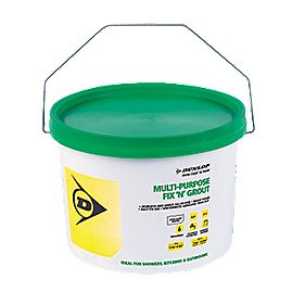 Dunlop Fix 'n' Grout Waterproof Adhesive White 7.5kg