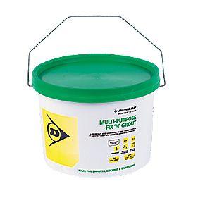 Dunlop Fix 'n' Grout Waterproof Adhesive White 7.5kg