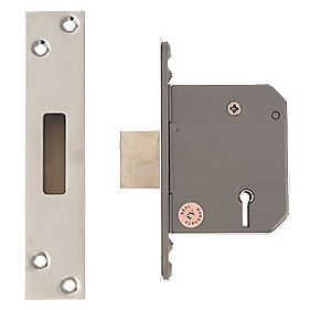 "Eclipse 5-Lever Deadlock Satin Chrome 2.5"" / 64mm"