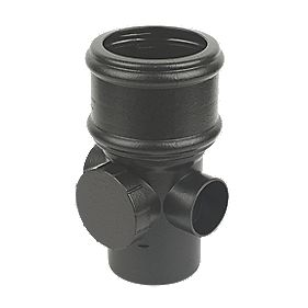 FloPlast SP274CI Cast Iron Effect Access Pipe (Socket Spigot) Black 110mm