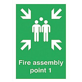 """Fire Assembly Point 1"" Sign 420 x 297mm"