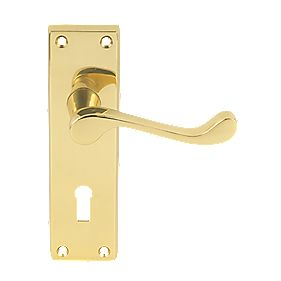 Carlisle Brass Victorian Scroll External Door Handle Pack Polished Brass