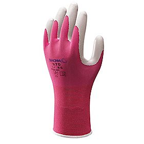 Showa Best 370 Floreo Landscaping & Gardening Nitrile Gloves Pink Small