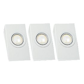 LAP Wedge Downlight Kit Gloss White 20W Pack of 3