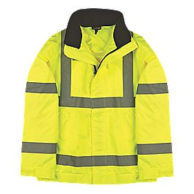 "Site Hi-Vis Lightweight Bomber Jacket Hi-Vis Yellow Medium 39"" Chest"