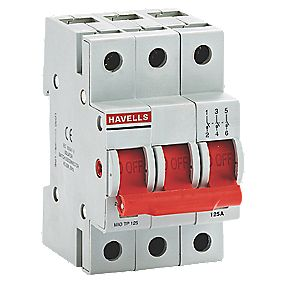Havells 125A Triple Pole SW Disconnector Incomer