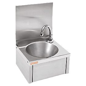Franke Knee Operated Wall-Hung Washbasin 1 Tap Hole 335mm