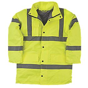 "Hi-Vis Padded Jacket Yellow X Large 57"" Chest"