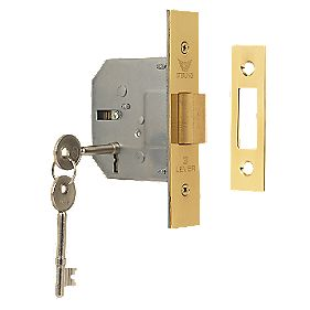 "Sterling 3-Lever Mortice Deadlock Brass 2½"" (64mm)"