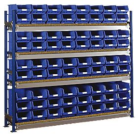 Toprax Longspan Starter Bay w/ 72 x TC4 Blue Containers 1812 x 328 x 1500mm